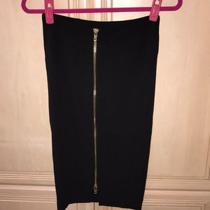 63c0b725af CQ by CQ Caribbean Queen Skirts - Black Pencil Skirt with Gold Accent  Zipper NEW